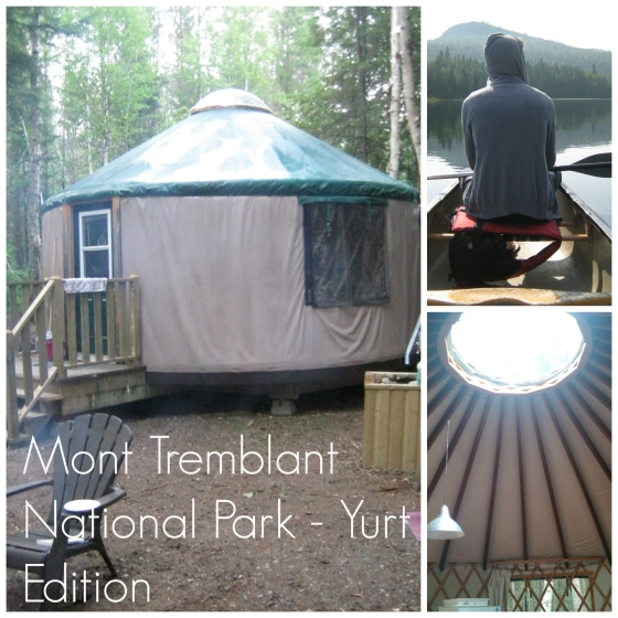 Yurt Mont Tremblant collage